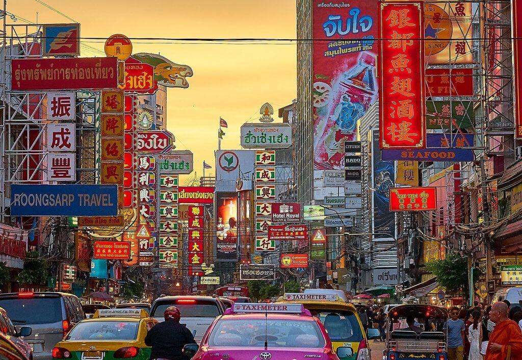 A Chinatown in Thailand.